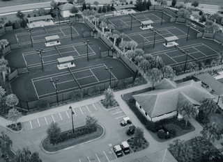 Mobile lakewood ranch aerial black and white 1