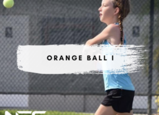 Mobile orange ball header for group classes
