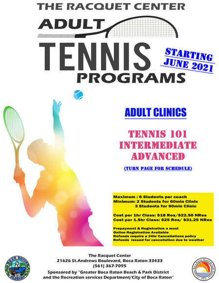 Normal adult clinic flyer june 2021
