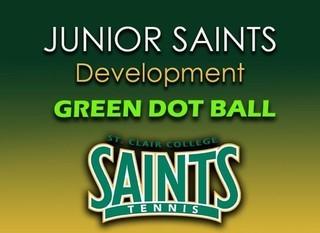 Mobile green junior saints green dot  ball good graphic